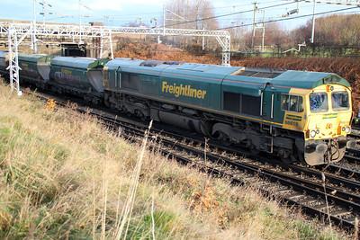 66619 1028/6k16 Crewe-Rugeley passes Casey Lane Crewe.