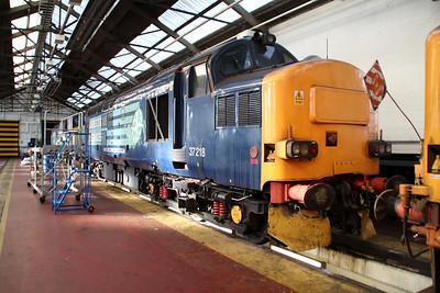 37218 inside Crewe Gresty Bridge.