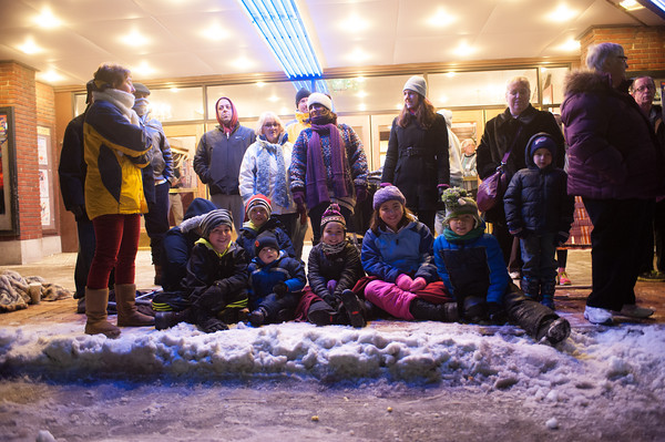 """131130 Parade JOED VIERA/STAFF PHOTOGRAPHER Lockport, NY-The Crowd watch as floats go by at this years Christmas on the Canal """"Parade in the Dark"""" on Saturday Nov 30th, 2013."""