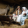 131206 Living Nativity JOED VIERA/STAFF PHOTOGRAPHER Newfane, NY-Actors Collin Henry and Emilie Intrabartolo perform as Joseph and <br /> Mary in the annual living nativity at Grace Bible Church on Friday Dec 6th, 2013. The living nativity will also be performed on December  8th, 13, and 15th