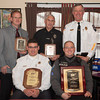 131211 Traffic Safety JOED VIERA/STAFF PHOTOGRAPHER Lockport, NY-Local Police Departments accept the  American Automobile Association's 2013 Community Traffic Safety award on Wednesday Dec 11th, 2013. <br /> Front Row: Niagara County Sheriff James Voutour and Roland Johnson of the Middleport Police Department<br /> Back Row: Scott Seekins of the Lockport City Police Department, Doug Piskorowski of the Barker Police Department and Chief John Swick of the Middleport Police Department.