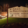131204 Living Nativity JOED VIERA/STAFF PHOTOGRAPHER Newfane, NY-The front of Grace Bible Church. They will host a living nativity December 6th, 8th, 13, and 15th Wednesday Dec 4th, 2013.