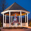 131204 Children Lights JOED VIERA/STAFF PHOTOGRAPHER Lockport, NY-A Christmas with bows lights up inside the gazebo at the Childrens Memorial Park on Wednesday Dec 4th, 2013.