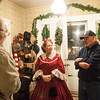 131205 Bond House JOED VIERA/STAFF PHOTOGRAPHER Lockport, NY- Karen Sherwood  speaks to guests at the Bond House during an open house event on Thursday Dec 5th, 2013. The Bond House will be open for tours on Dec. 7th, 14th and 21st, 1-4 pm.