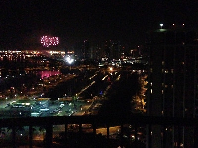 Awakened at 5am our first morning there by fireworks kicking off the start of the Honolulu marathon!