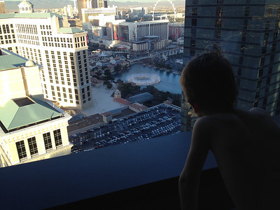 Good view of the Bellagio fountains
