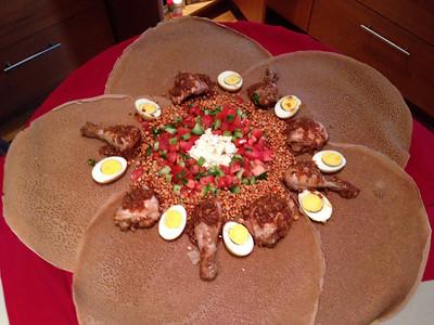 Peter's Ethiopian Christmas dinner