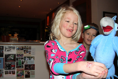 What she asked Santa for - a stuffed animal Jewel from the movie Rio.