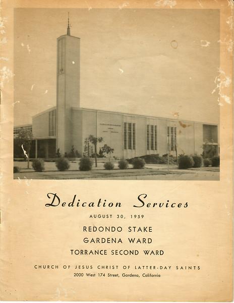 Dedication Redondo Stake Ctr 1959