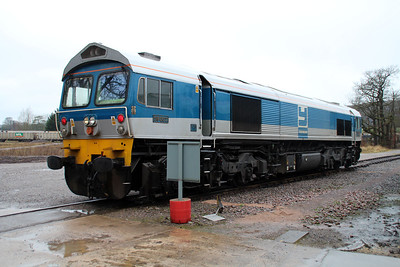 59002 'Alan J Day' outside Merehead Depot.