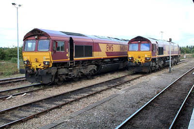 66004 & 66141 in the sidings.