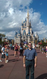 Craig in front of the Cinderella Castle