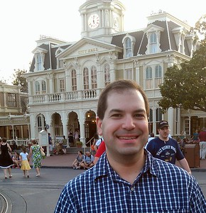 Craig in front of City Hall on Main Street, U.S.A.