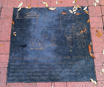 Historical sidewalk plaque in Space View Park