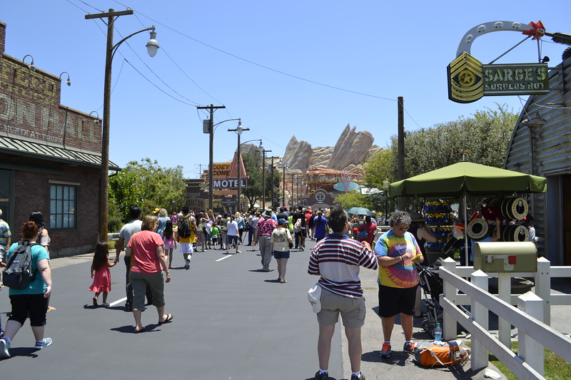 Back to Cars Land after lunch