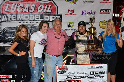 Chris Madden in Victory Lane @ Dixie Speedway with Mickey & Chase Swims
