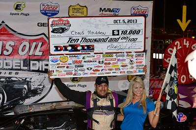 Chris Madden in Victory Lane @ Dixie Speedway