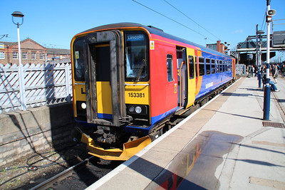 Newly outshopped 153381 on a Lincoln service.