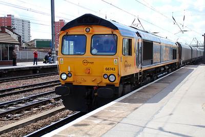 66743 1050/6y61 Doncaster-Ferrybridge.