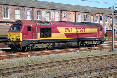 67022 in Doncaster West Yard.