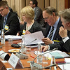 The EEA Council 19 November 2013; From left:  Thórir Ibsen, Ambassador, Head of Mission of Iceland to the EU; Gunnar Bragi Sveinsson, Minister for Foreign Affairs, Iceland; Bryndís Kjartansdóttir, Director, Ministry for Foreign Affairs, Iceland; Mr Kristin F Árnason, Secretary-General, EFTA; Helge Skaara, Deputy Secretary-General, EFTA (Photo: EFTA)