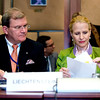 The EEA Council 19 November 2013; From left: Kurt Jäger, Ambassador, Mission of Liechtenstein to the EU; Aurelia Frick, Minister of Foreign Affairs, Liechtenstein; d (Photo: Council of European Union)