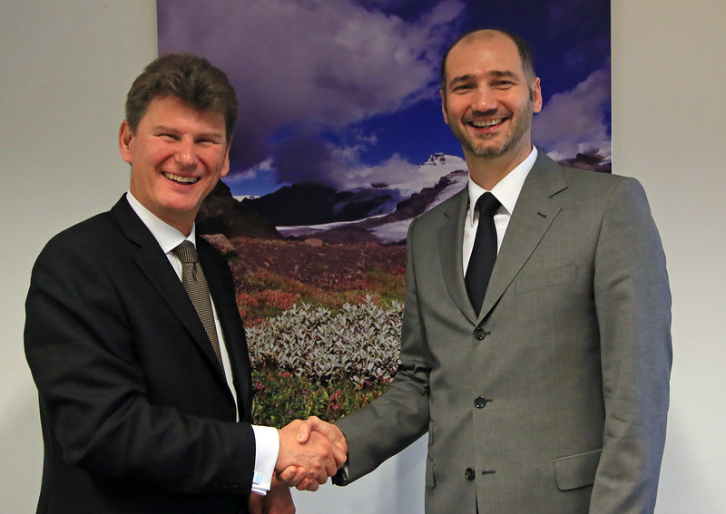 Mr Thorir Ibsen, Ambassador at the Mission of Iceland to the EU, and Mr. Joško Klisović, Deputy Minister of Foreign and European Affairs of the Republic of Croatia (Photo: EFTA)
