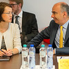 From left: Brigita Lapaitė, Permanent Representation of Lithuania to the EU, and GIanluca Grippa, Head of Division, European External Action Service.