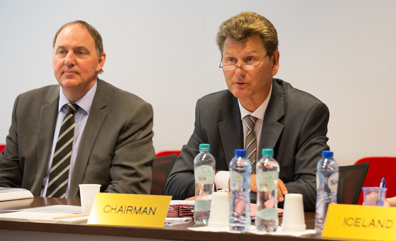 From left: Kristinn F. Árnason, EFTA Secretary-General and Ambassador Thorir Ibsen, Mission of Iceland to the EU, chairing the EFTA Joint Committee on 15 July 2013.