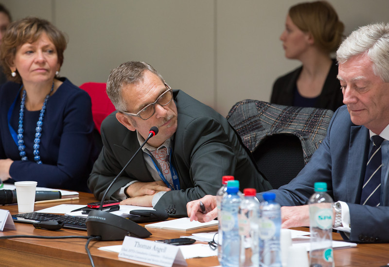 24 May 2013,Consultative Committee Seminar; From left: Irini Ivoni Pari, European Economic and Social Committee; Sjoerd Feenstra, DG Employment, European Commission; Thomas Angell, EFTA Consultative Committee