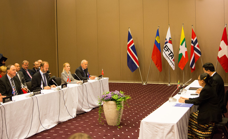 EFTA and Myanmar sign Joint Declaration on Cooperation on 24 June 2013.
