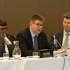 From left: Martin Eyólfsson, Ambassador, Permanent Representative to EFTA Permanent Mission of Iceland, Geneva; Gunnar Bragi Sveinsson, Minister for Foreign Affairs and External Trade, Iceland, and Thórir Ibsen, Ambassador, Permanent Representative Permanent Mission to the European Union, Brussels.