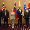 From left: Kristinn F. Árnason, Secretary-General, EFTA; Gunnar Bragi Sveinsson, Minister for Foreign Affairs and External Trade, Iceland; Aurelia Frick, Minister of Foreign Affairs, Liechtenstein; Trond Giske, Minister of Trade and Industry, Norway; Mirko Šarović, Minister of Foreign Trade and Economic Relations, Bosnia and Herzegovina; and Johann N. Schneider-Ammann, Federal Councillor, Head of the Federal Department of Economic Affairs, Education and Research, Switzerland.