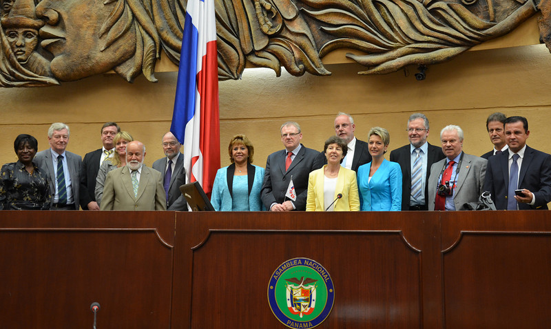 Group photo at the Parliament in Panama