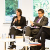Conference on free movement of persons & the impact on the welfare state, 20 November 2013; From left: Katharina Eisele, Researcher, CEPS - The Centre for European Policy Studies in Brussels; Jörg Tagge, Deputy Head of Unit, Free Movement of Workers Coordination of Social Security Schemes, DG Employment, European Commission (Photo: EFTA)