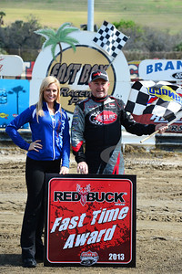 Jimmy Owens won the Red Buck Fast Time Award