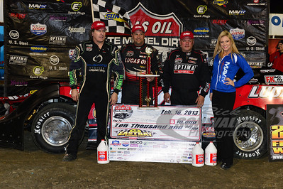 Top 3: Scott Bloomquist (left), Earl Pearson, Jr. (center), and Don O'Neal (right)