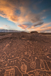 Over at the petroglyphs we found some amazing clouds. Too bad they fizzled out before sunset :(