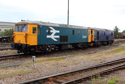 73207 & 73212  Eastleigh Station Yard.
