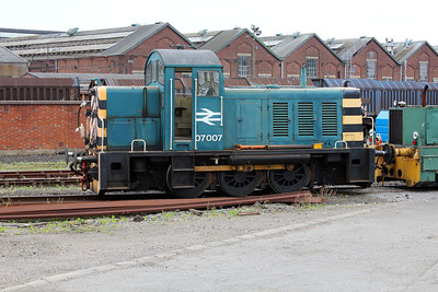Class 07 shunter 07007 viewed at Eastleigh Works.