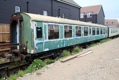 MK1 4976 under restoration in Ongar Station Yard.