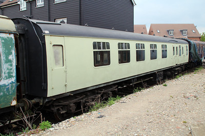 MK1 21059 in undercoat in Ongar Station Yard.