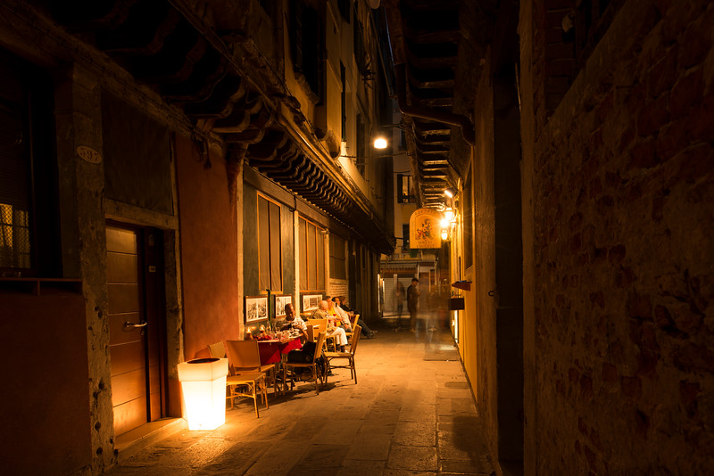 Getting dinner in Venice
