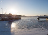 South Harbor, frozen over
