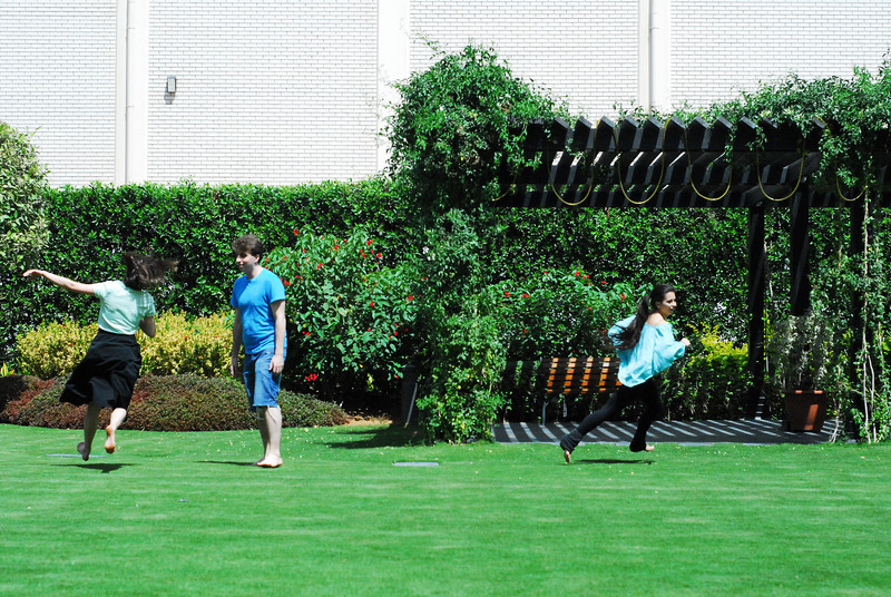 Tag Team<br /> <br /> NYU Tisch and Gallatin team members playing tag in the NYUAD garden.