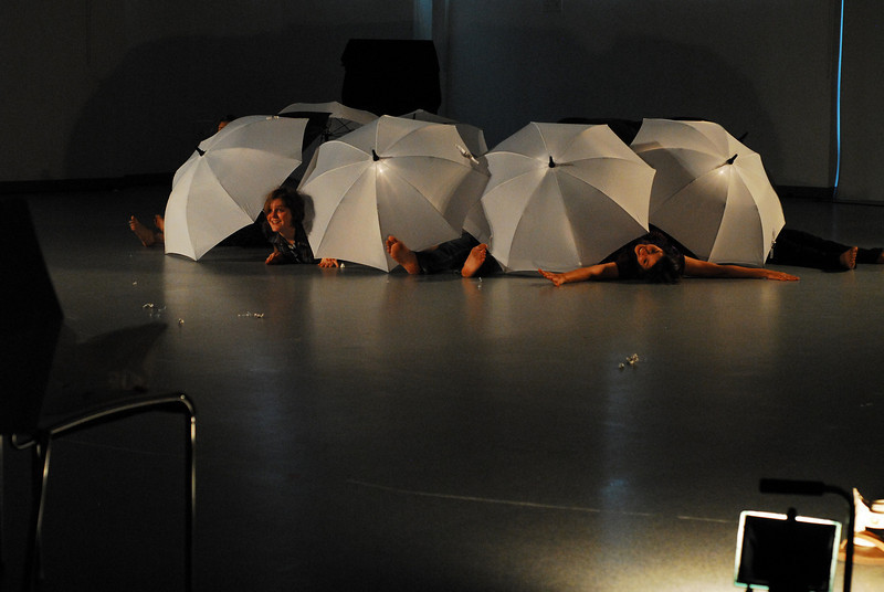 """Trinculo<br /> <br /> Rehearsal photo from """"dream caliban"""" with Amelia Dornbush (L) and Camilla Dely (R)."""