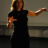 "Directoring<br /> <br /> Director Catharine Slusar giving notes after ""dream caliban"" rehearsal."