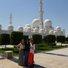 Grand Mosque<br /> <br /> Maddie Brady (R), Maria Russo (C), and Anna Bullard (L) in front of the Sheikh Zayed Grand Mosque. Photo Credit: Maria Russo