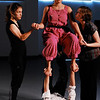 Throne I<br /> <br /> Cory Downing holding up Maria Russo in rehearsal with Anna Bullard (L) and Amelia Dornbush (R).