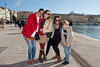 Bryn Mawr College students on 360° class study tour, Le Vieux Port, Marseille, France, 10 March 2013